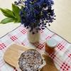お菓子工房 あひる堂 - 料理写真:千さんからいただいた紫のお花と手作りマーマレードとカッティングボードのコラボ♡(о´∀`о)