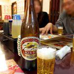 130255520 - 瓶ビールの銘柄はキリンラガー。この日はキリンビール横浜工場の見学をしたので、キリンが出てきて丁度良かった♪