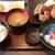 北海酒場 静内 - ザンギと刺身定食 1,300円