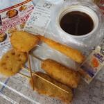 Kushikatsutanaka - 定番5本盛りアップ