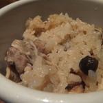 13028122 - 鶏と茸のまぜご飯
