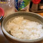 麺場 鶏源 - ライス(セットのライスがあったのにね)