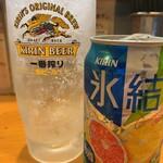 麺場 鶏源 - グレープフルーツ缶チューハイ