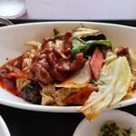 130285773 - 春キャベツの回鍋肉定食