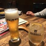 130288367 - ビールと炭ハイボール
