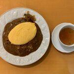 130289498 - ドライカレー・オムレツのせ(スープ付) ¥1,200