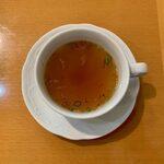 130289501 - ドライカレー・オムレツのせ(スープ付) ¥1,200 のスープ