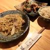 Kokku - 料理写真:タイ風焼きそば、唐揚げ(ネギソース)、玄米ご飯