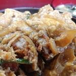 しんちゃん食堂 - カツ丼のアップ