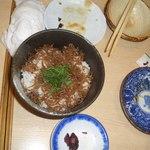 浪速割烹居酒屋 おかだ - 山椒の佃煮ごはん。
