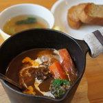 Outdoor Cafe 野菜香房 - 料理写真:ビーフシチゥセット