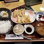 個室・鶏ざんまい 十四郎 - 餃子定食(700円税込)