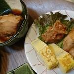 130318806 - 豚の角煮、ザンギ、玉子焼