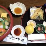 下田寿司 - 料理写真:江戸寿司膳¥5000(税込¥5400) お皿やお椀、器の色や形も楽しめました 付属のお盆にHPを真似て並べました