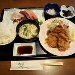 お食事処 大原 - アジフライ定食