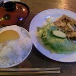 シロクマ - 生姜焼き定食(1260円)
