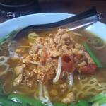 中国台湾料理 王府 - 台湾塩。とんこつと違ってスープが澄んでいる。ひき肉も大きめので、申し分ない。