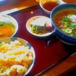丸亀 - 料理写真:肉うどん定食(¥970)