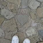 五人百姓 - グラバー園のハートの石