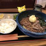 讃岐麺屋 あうん - 肉玉ぶっかけ冷 960円(税込) ※小ご飯付き