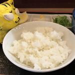 讃岐麺屋 あうん - ご飯、どうやって食べようか・・・