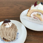 ロンシャン洋菓子店 - モンブラン&ロールケーキ