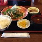 万徳 - 焼肉ピーマン定食 850円