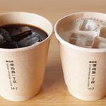 東向島珈琲店 pua mana - アイスコーヒー(450円)とアイスオレ(480円)