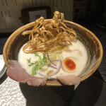 鶏soba 座銀  - 鶏soba 大 +燻製玉子