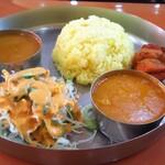 インド食堂 マハトマ - 料理写真:チキン・ダル・ライス