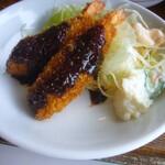 華乃樹 - 惣菜(海老フライ、サラダ)