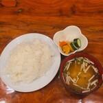 130357635 - ♦︎大盛りご飯セット ¥462                       (ライス・味噌汁・おしんこ)