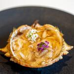 レストラン オオツ - 2020.5 青森トゲクリガニ 内子外子蟹のゼリー寄せ