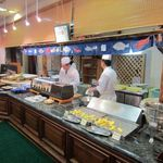 スカイホール - 夕食 天ぷら&寿司コーナー。