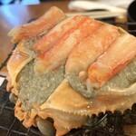 魚○ - カニ味噌甲羅焼き
