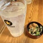 魚○ - レモンサワー