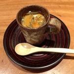 13037032 - すっぽんの冷やし茶碗蒸し(お通し)