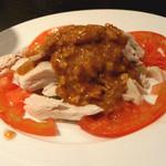 13037792 - 蒸し鶏のゴマ味噌ソース