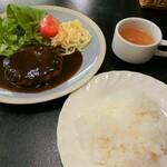 ポポロ - 料理写真:ハンバーグステーキ洋風900円