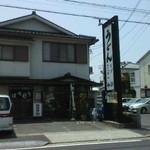 みぶうどん - 店の外観。写真撮影方向が駐車場(2014.3撮影)