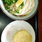 大谷製麺所 - ぶっかけうどん(冷)、筍の天ぷら