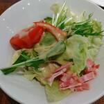 ナポリの食卓 パスタとピッツァ - シンプルセット サラダ