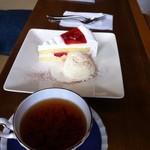 Cafe 茶楽 - ケーキセット 1000円
