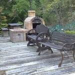森のパン屋 花穂 - 階段の途中にある石釜