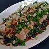 SHIN - 料理写真:蒸し鶏 油淋鶏風タレつき(中)250円