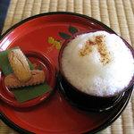 識名園 - 料理写真:ぶくぶく茶と茶菓子セット