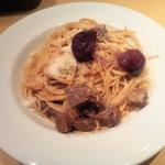 田町 イタリア食堂 LA CAVERNA - 牛すじパスタ@LA CAVERNA