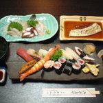 まるみつ寿司 - 料理写真:旬の魚介を使った おまかせコース 3150円