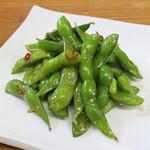 くいもの屋 わん - 枝豆のガーリック炒め