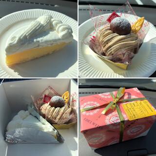 エーデルワイス洋菓子店 - 料理写真:クリームパイ(カット)  和栗のモンブラン 訪問時期は2月中旬
